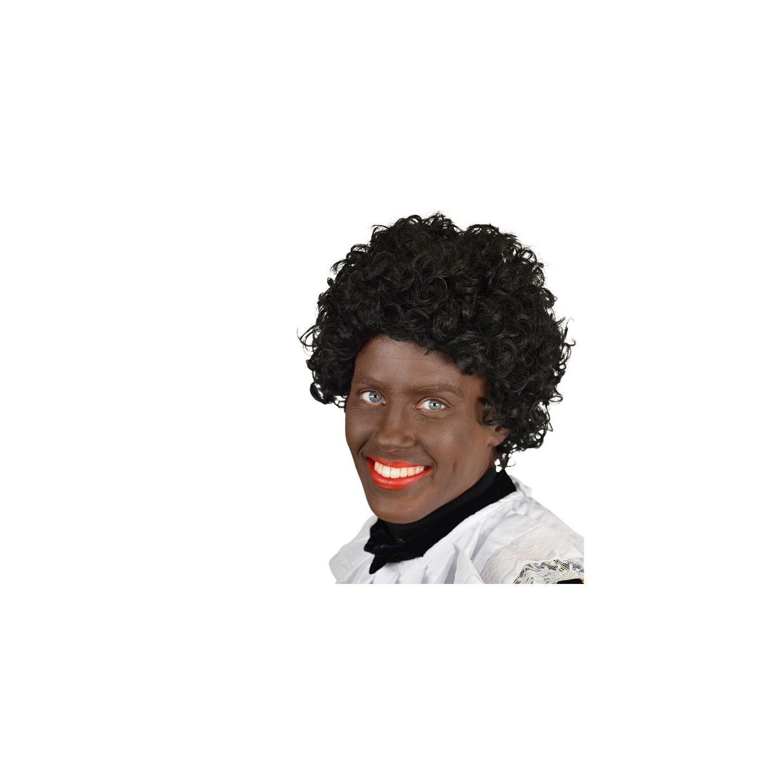 Pietpruik zwarte pieten pruik luxe goede kwaliteit Pedro