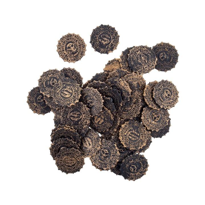 Piraten munten oude dukaten 50stuks