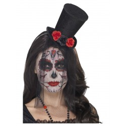 Day of the dead diadeem met hoed
