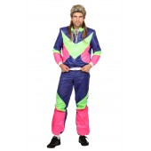 Jaren 80 retro trainingspak foute jogging fluo