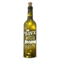 Verlichte wijnfles I love you Wine Light