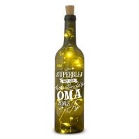 Verlichte wijnfles Oma Wine Light