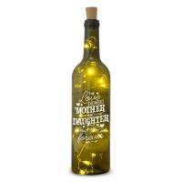 Verlichte wijnfles Mother & Daughter Wine Light