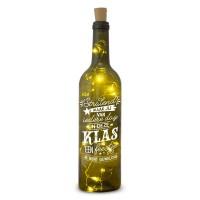 Verlichte wijnfles In Deze Klas Wine Light