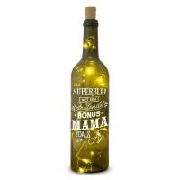 Verlichte wijnfles Bonus Mama Wine Light