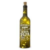 Verlichte wijnfles Bonus Papa Wine Light