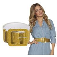 gouden glitter riem disco carnaval