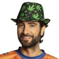 Hippie hoedje wietblad cannabis carnaval