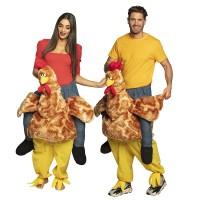 Instap kippen kostuum volwassenen kippenpak carnaval