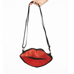 Vintage Rockabilly schoudertasje Red Lips