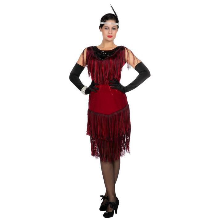 Charleston jurk Red Ruby Roaring Twenties