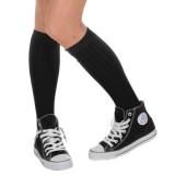 Knie sokken zwart voor heren carnaval