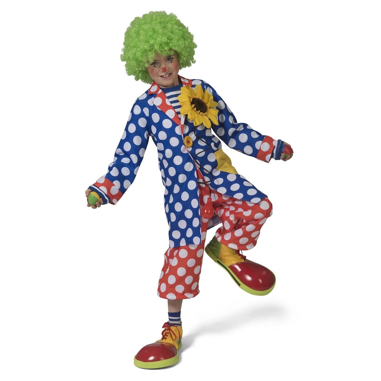 Clowns jas kind carnaval kostuum clownspak