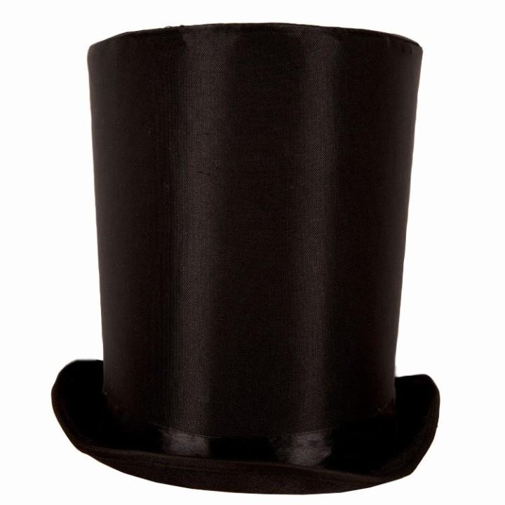 Extra hoge Hoed Lincoln zwart 24 cm