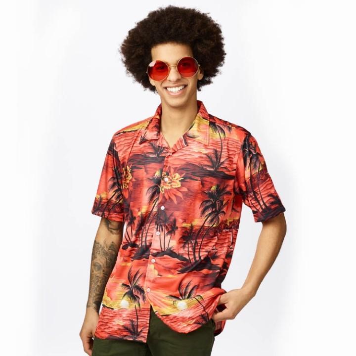Hawaii hemd heren Tropical shirt rood