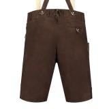 Korte lederhose heren bruin tiroler broek