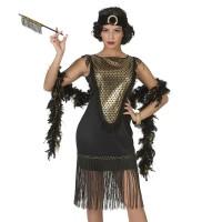 Charleston Jurk zwart great gatsby kledij