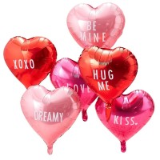 Valentijn decoratie folie ballonnen hartjes versiering