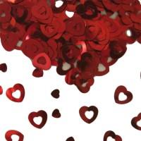 Tafelconfetti hartjes rood 15gr