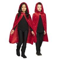 Rode kinder cape met kap Dawn 115 cm