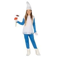 Smurfin kostuum kind jurkje