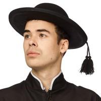 Hoed pastoor zwart Priester hoed met tassel