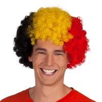 Belgie supporters pruik Afro met krullen