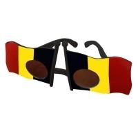 Supporters bril België vlaggen