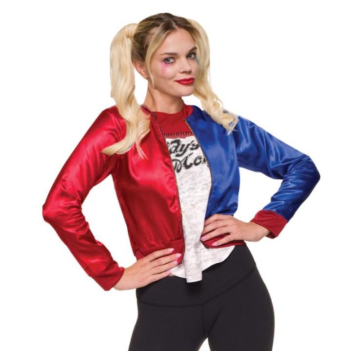 Harley Quinn® kostuum kit dames jasje + shirt