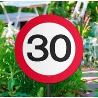 30 jaar verjaardag versiering verkeersbord tuinbord