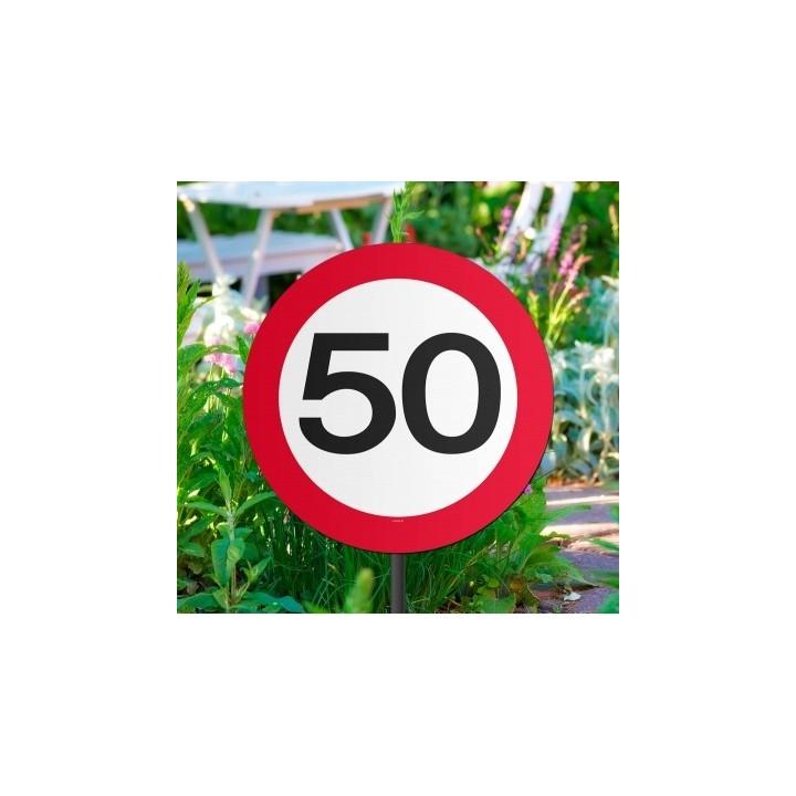 Verjaardag tuinbord verkeersbord 50 jaar