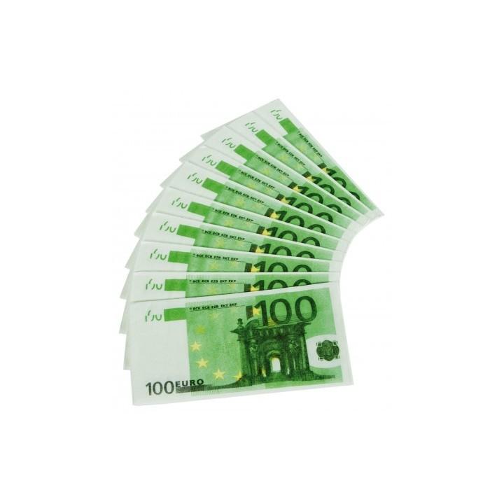 100 Euro servetten geld biljetten 10 stuks