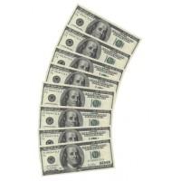 100 dollar servetten geld biljetten