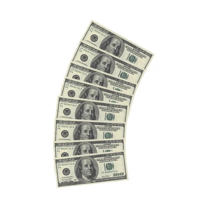 100 Dollar servetten geld biljetten 10 stuks