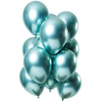 Ballonnen set mirror chroom muntgroen tros ballonnen