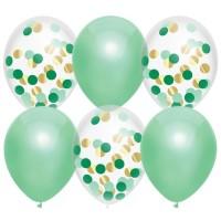 Confetti ballonnen munt groen