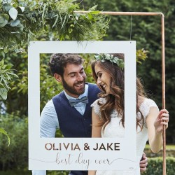 Photobooth kader Best Day Ever 72x60 cm