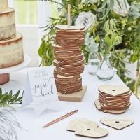Alternatief gastenboek bruiloft houten hart