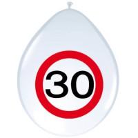 Verjaardag ballonnen verkeersbord 30 jaar