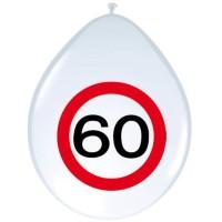 Verjaardag ballonnen verkeersbord 60 jaar