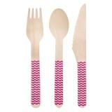 houten feestartikelen wegwerp messen vorken lepels