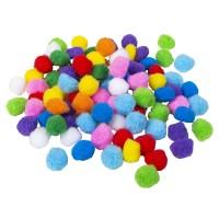 Mini pompon mix 2cm Knutselballetjes - 100st