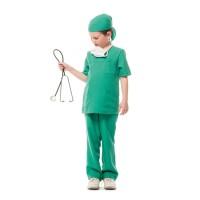 Chirurg kostuum kind groen + mondmasker