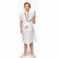 Verpleegster kostuum kind + stethoscoop