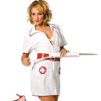 Verpleegster kostuum dames + riem