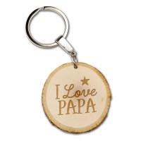 vaderdag cadeautje papa Boomschijf sleutelhanger