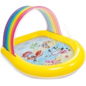 Intex kinderzwembad rainbow spray watersproeier peuterbad