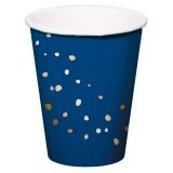 verjaardag versiering feestartikelen Kartonnen bekertjes koningsblauw