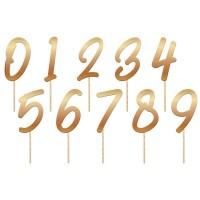 Cake topper cijfers brons verjaardag versiering