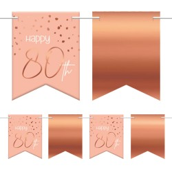 "Vlaggenlijn Happy ""80th"" Lush Blush 6m"